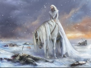 queen-war-white-horse-winter-suffering-sodier-snow-painting